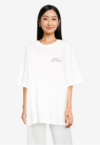 JEANASIS white Graphic T-Shirt 14583AACD18FDBGS_1