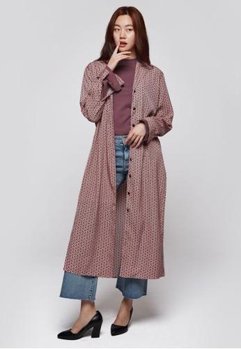 印花esprit台灣官網長版外套, 服飾, 外套