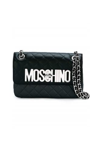 MOSCHINO black MOSCHINO QUILTED SHOULDER BAG EC163AC7A500ACGS_1