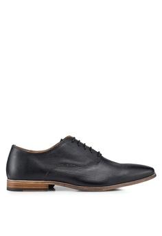 Topman black Black Delta Oxford Shoes FCB77SH9633415GS 1 06fbe6d9a8b6