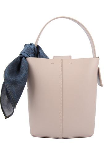 RO Bags beige RO Terranova Felucca Mini Top Handle Bucket Bag in Rose Cloud/Black 80159ACE20F3EDGS_1