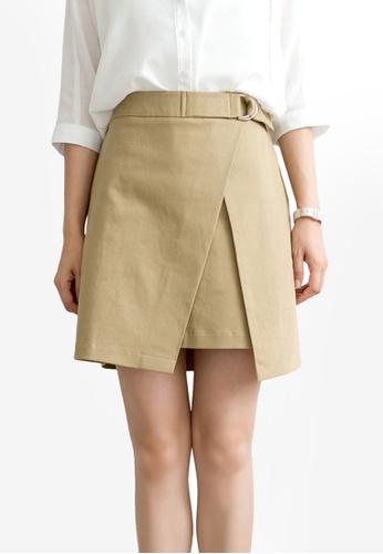 Tokichoi beige Minimalist Wrapped Skirt 37C32AA87E5B3BGS_1