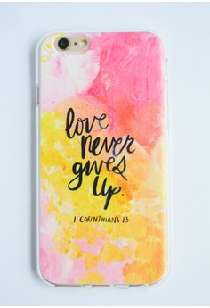 Love Never Gives Up Soft Case for iPhone 6/6s