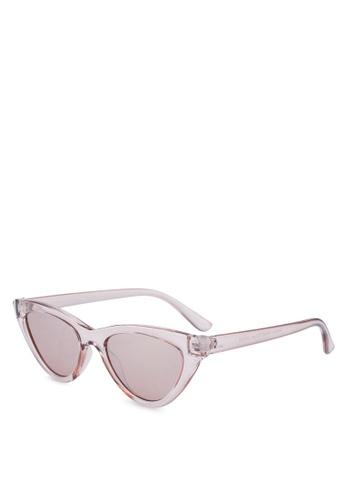 366a617f406e3 Shop Rubi Narrah Short Frame Cat Eye Sunglasses Online on ZALORA Philippines