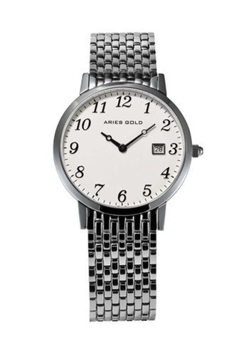 Aries Gold silver Aries Gold Heritage Master L 1018Z Silver And White Numbered Watch AF085ACE928A20GS_1