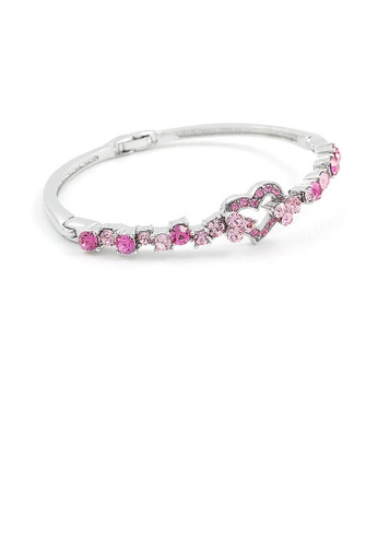 Glamorousky pink Elegant Bangle with Pink Austrian Element Crystals 62849AC44001FFGS_1
