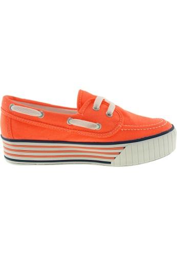 Maxstar orange Maxstar Women's C30 Boat Platform Canvas Slip On Loafers US Women size MA164SH06QRDSG_1