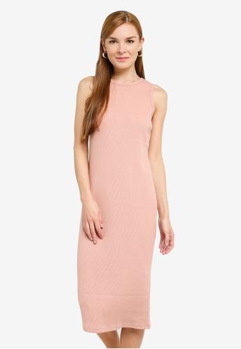 UniqTee 粉紅色 無袖洋裝 0C5B4AA04B3FC5GS_1
