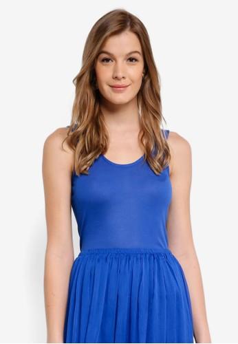 Selected Femme blue Lyra Sleeveless Rib Top E0470AA4ED2D07GS_1