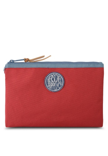 Herschel red and multi Network Large Wallet 70259AC675CA94GS_1