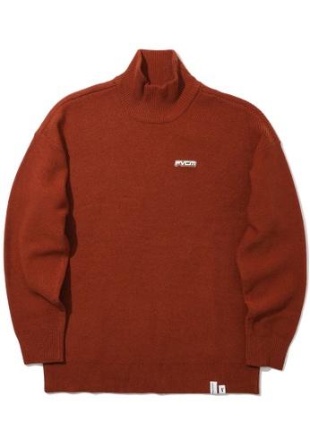 Fivecm brown Logo knit sweater D14FBAAF4C1DCFGS_1