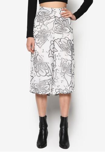 印花及膝寬管褲, 服飾, 長褲及內zalora 男鞋 評價搭褲