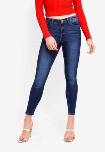 Buy Miss Selfridge Sofia Mid Blue Jeans Zalora Hk