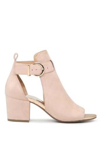 London Rag beige Sonya Peep Toe Ankle Strap Sandals 662CCSHE4E12F5GS_1