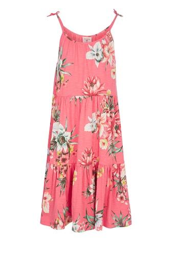 Gen Woo pink Floral Smock A-Line Dress By Gen Woo 08E51KA27833F6GS_1