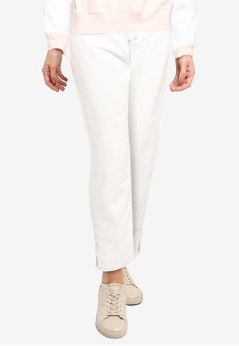 French Connection white Palmira Sust Side Split Jeans DE6DEAACDCEF54GS_1