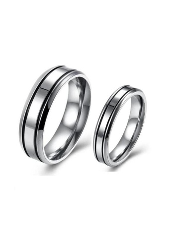 ADORA Stainless Steel Couple Rings AD365AC23DIUHK_1