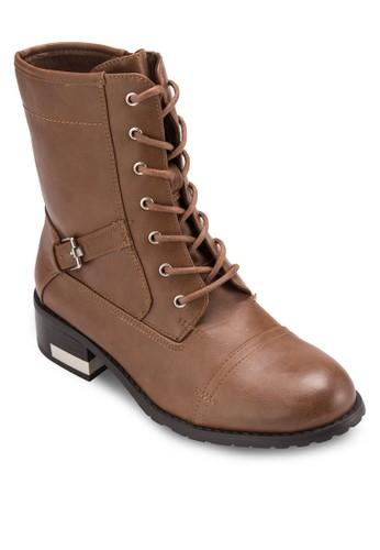 Cerirwen 繫帶筒靴, 女鞋, 俏皮男esprit 眼鏡孩風