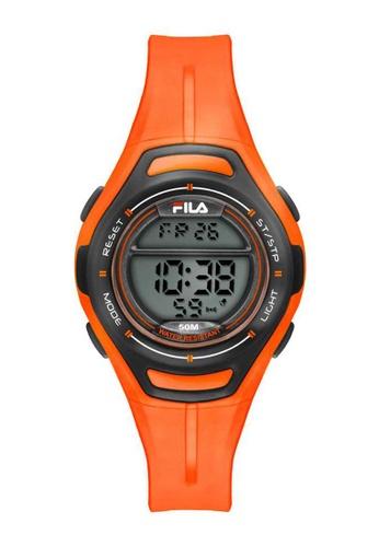 FILA Watches orange Fila Digital Black and Orange Rubber Watch A2ABBACDBC1027GS_1