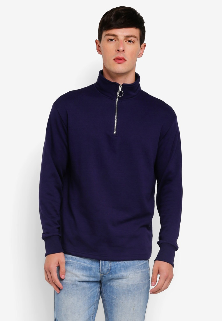 Factorie Neck Funnel Sweatshirt Eclipse Zip Quarter g1UwqTU