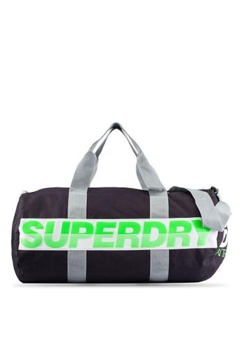 Superdry grey International Barrel Duffle Bag SU137AC0RIRXMY_1