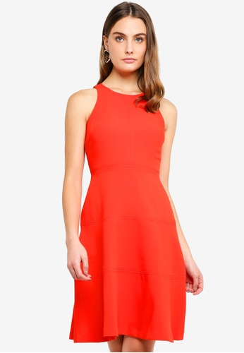 Banana Republic orange Racerback Fit & Flare Dress A5093AAC7DB3E7GS_1