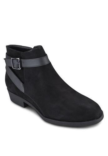 扣環esprit香港分店地址帶麂皮踝靴, 女鞋, 鞋