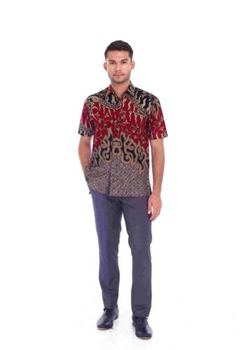 TUSCA red Eusoff Classic Batik Shirt C0708AA02F92F2GS_1