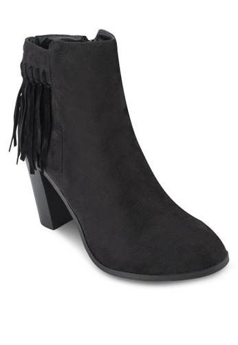 Montclaire 流蘇粗跟踝靴, 女鞋esprit 鞋, 鞋