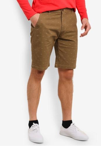 Marc & Giselle 褐色 Bermuda 短褲 MA188AA0S15QMY_1