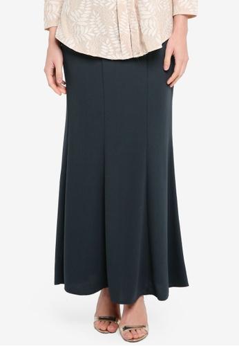 BYN grey Long Maxi Skirt DF4DFAA4E10E72GS_1