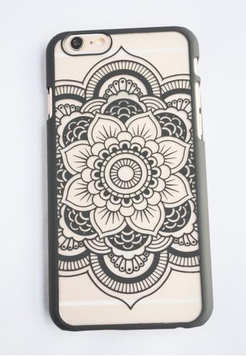 Fancy Cellphone Cases black Flower Mandala Case for iPhone 6 FA644AC55EUYPH_1
