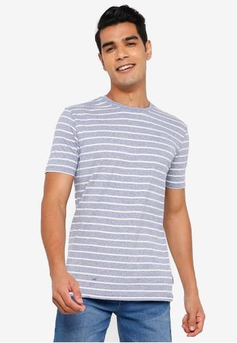 Springfield blue Striped T-Shirt 69899AA8E611A1GS_1
