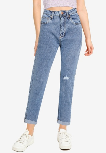 Cotton On blue Stretch Mom Jeans D5425AA5B9BC62GS_1
