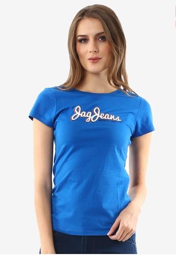 JAG blue Ladies Basic Roundneck Logo Tshirt 18BF8AA86AA2A1GS_1