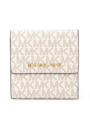 MICHAEL KORS white Michael Kors Logo Wallets - 35F8GTVD1B Vanilla/Acrn 40903AC88E1877GS_1