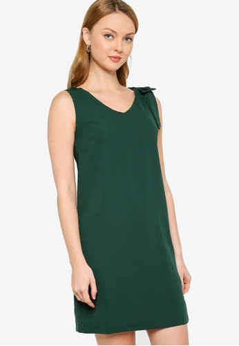 ZALORA WORK green Bow Detail Dress 3DFA2AA4A80863GS_1
