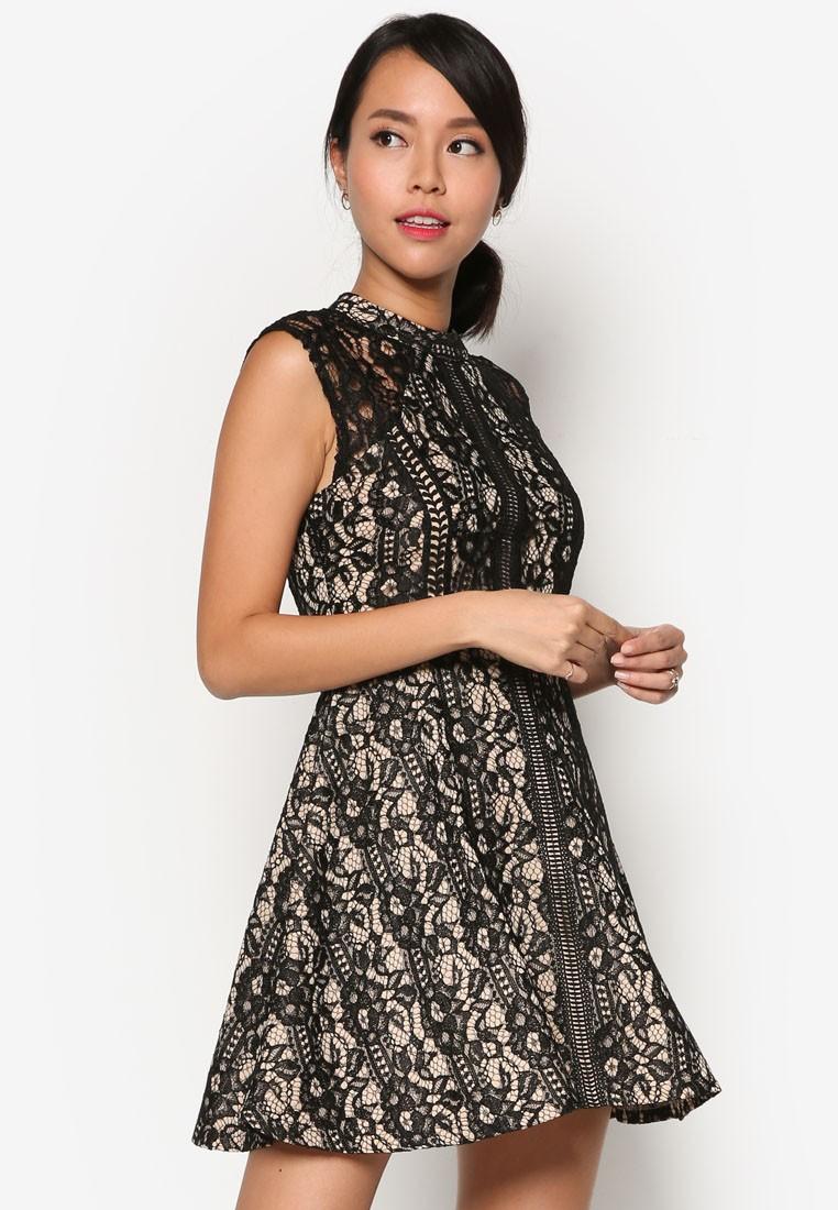 Lace Pieced Dress