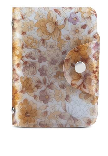花卉印花esprit outlet 高雄卡片收納夾, 包, 皮夾及零錢包