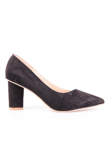 Sunnydaysweety black Black Color Suede Pointed High Heel Shoes RA10130 SU443SH80XIXHK_1