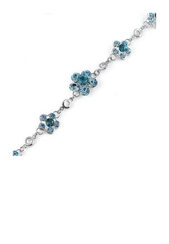 Glamorousky blue Gracious Flower Bracelet with Blue Austrian Element Crystal 23E11AC512DED0GS_1