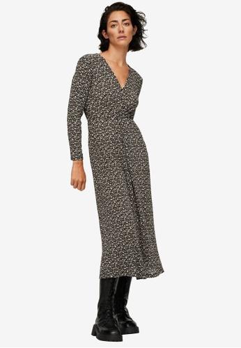 Mango black Printed Textured Dress 74B22AA85C5F87GS_1