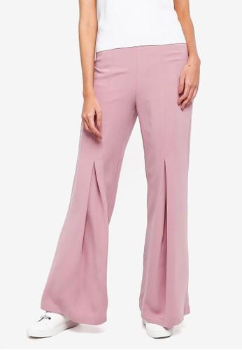 Alia B. grey Della Flared Trousers E0780AA6A9D82EGS_1