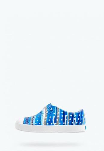Native blue Jefferson Print Sneakers E0B96KS95D6A2BGS_1