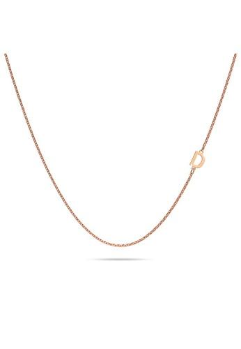 Bullion Gold gold BULLION GOLD Bold Alphabet Letter Initial Charm Necklace in Rose Gold Tone - D C30FBAC0B9CFAFGS_1
