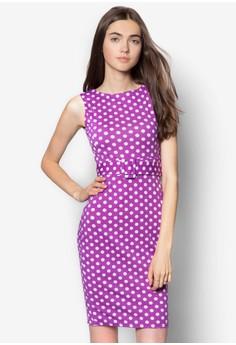 Polka Dot Purple Bodycon Dress