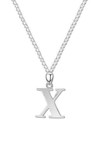 SC Tom Silver silver Letter Pendant with Chain SC872AC0J8NJPH_1