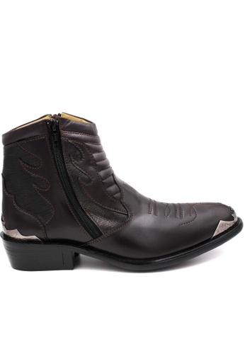 midzone brown EAGLE HUNTER Handmade Genuine Leather Boots 1E184SH35CBC91GS_1