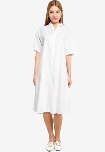 LOWRYS FARM white Midi Shirt Dress 093A1AAB9624F8GS_1