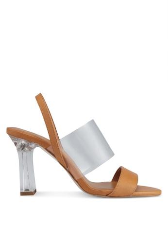 Mango brown Heel Leather Sandals D4D52SHF976FD2GS_1